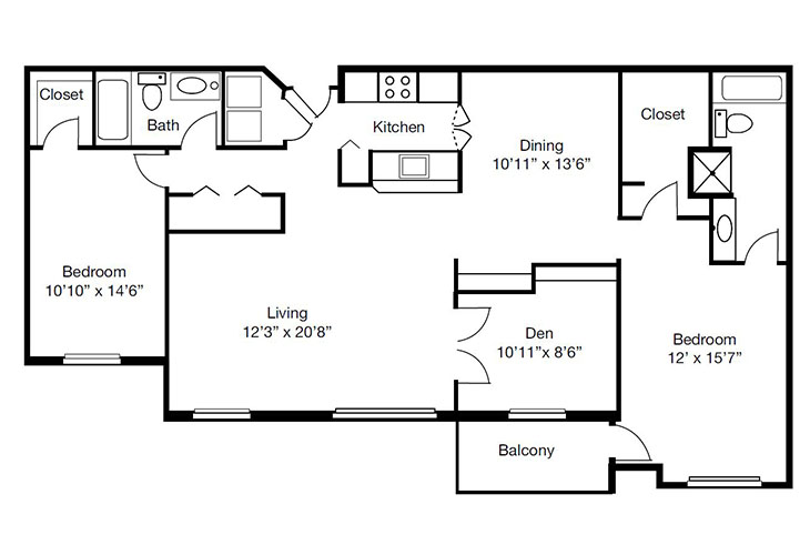 Forum at The Crossing Independent Living Model K Floor Plan
