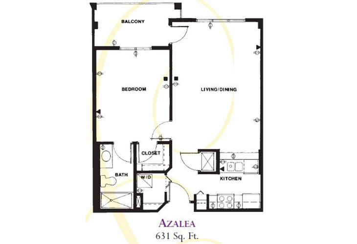 Forum at Deer Creek Assisted Living Azalea (1) Floor Plan