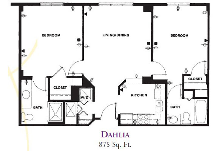 Forum at Deer Creek Independent Living Dahlia (1) Floor Plan