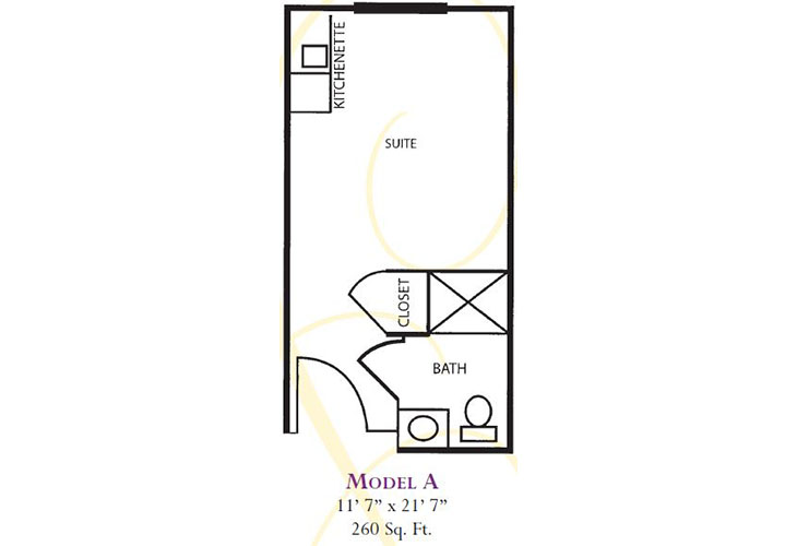Forum at Deer Creek Assisted Living Model A Floor Plan