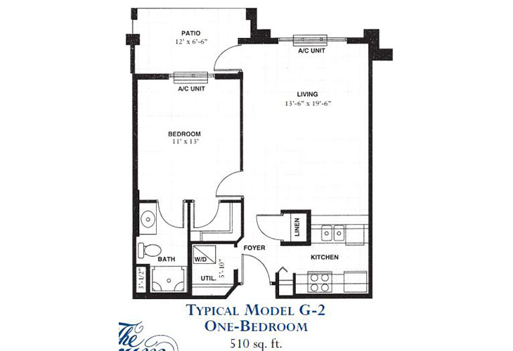 Forum at Deer Creek Assisted Living One Bedroom Floor Plan