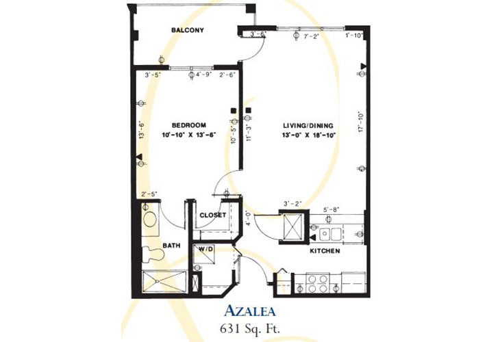 Forum at Deer Creek Assisted Living Azalea Floor Plan