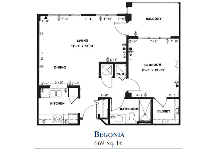 Forum at Deer Creek Assisted Living Begonia Floor Plan