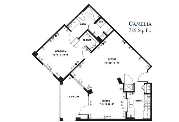Forum at Deer Creek Independent Living Camelia Floor Plan