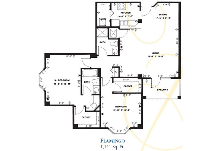 Forum at Deer Creek Assisted Living Flamingo Floor Plan