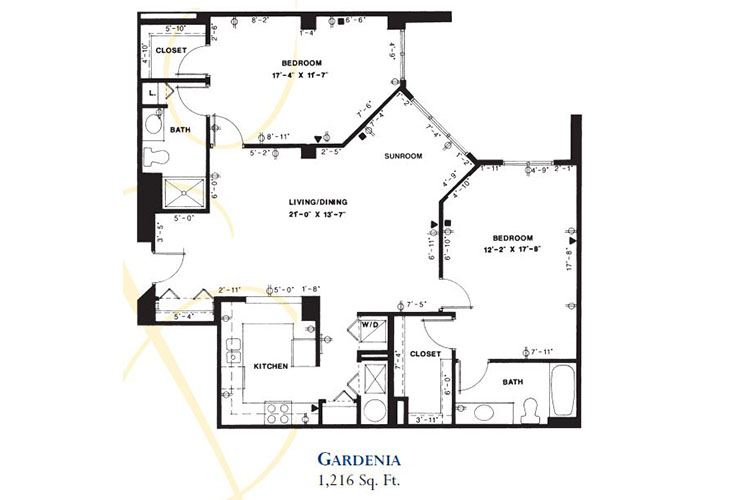 Forum at Deer Creek Assisted Living Gardenia Floor Plan