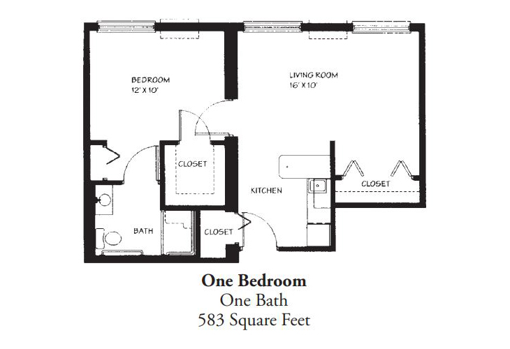 Forum at Desert Harbor Assisted Living One Bedroom (1) Floor Plan