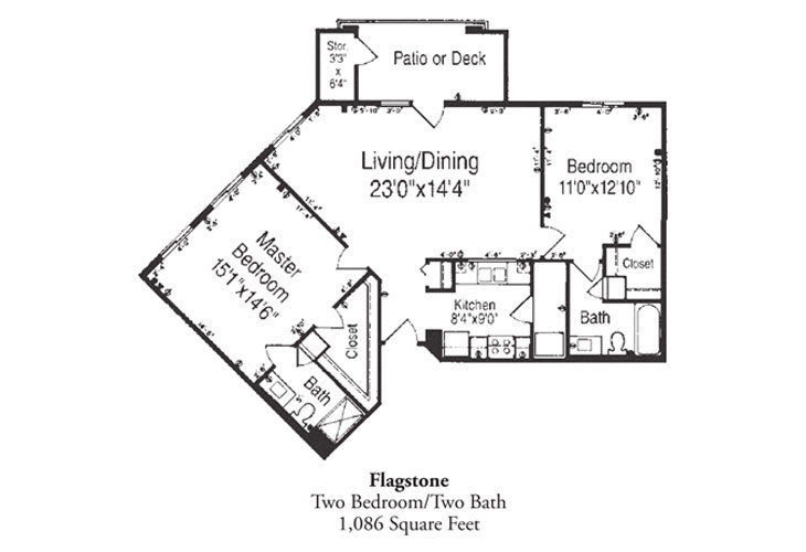 Forum at Desert Harbor Independent Living Flagstone Floor Plan