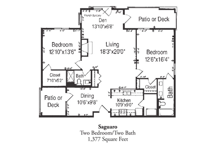 Forum at Desert Harbor Independent Living Saguaro Floor Plan