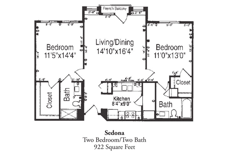 Forum at Desert Harbor Independent Living Sedonia Floor Plan