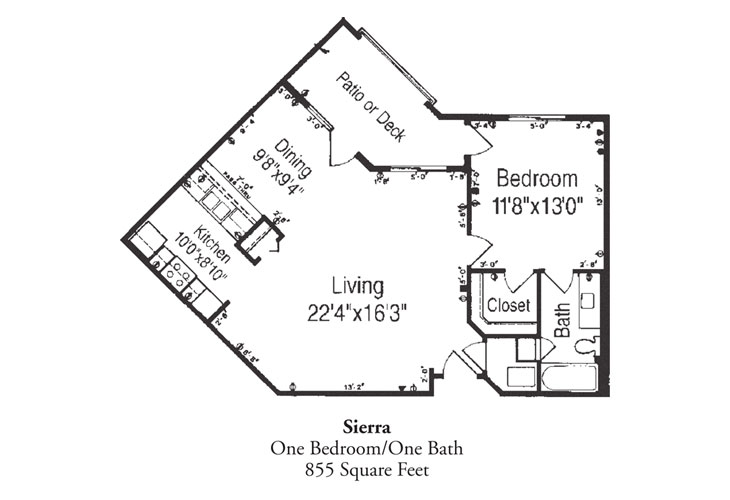 Forum at Desert Harbor Independent Living Sierra Floor Plan
