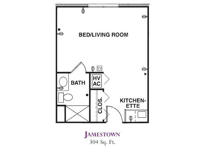 Forum at Knightsbridge Memory Care Jamestown Floor Plan