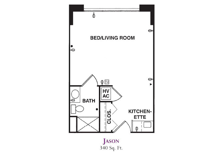 Forum at Knightsbridge Memory Care Jason Floor Plan