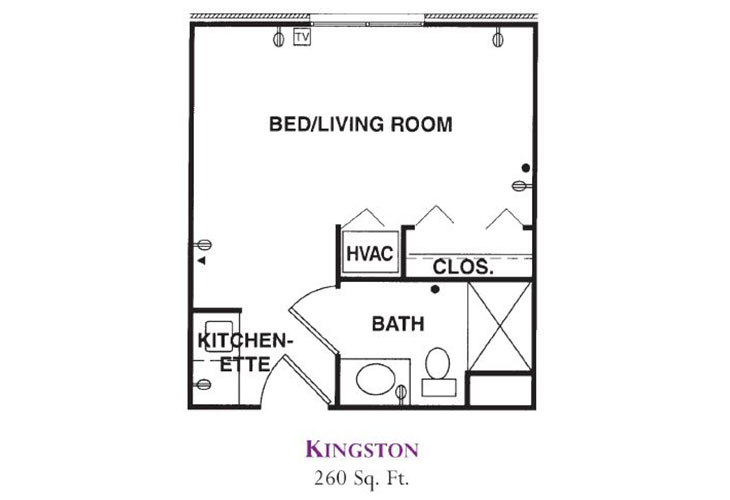 Forum at Knightsbridge Assisted Living Kingston Floor Plan