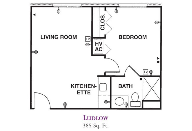 Forum at Knightsbridge Assisted Living Ludlow Floor Plan
