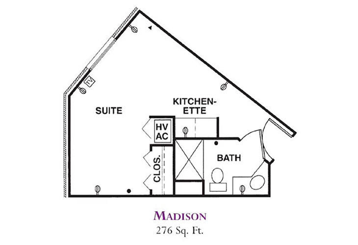 Forum at Knightsbridge Memory Care Madison Floor Plan