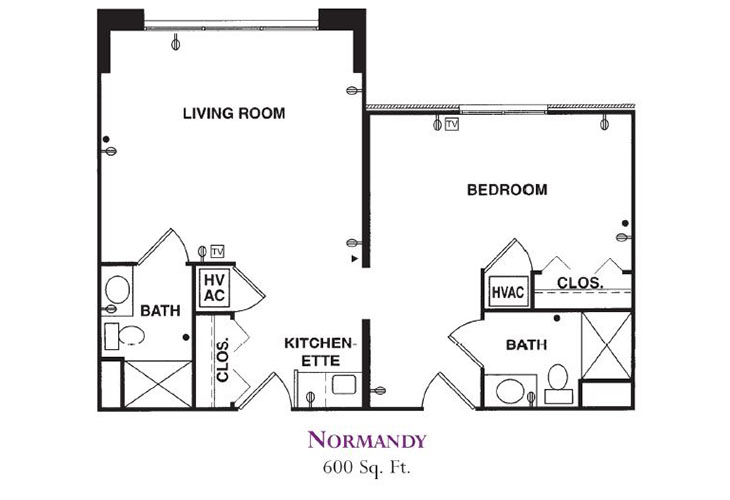 Forum at Knightsbridge Memory Care Normandy Floor Plan