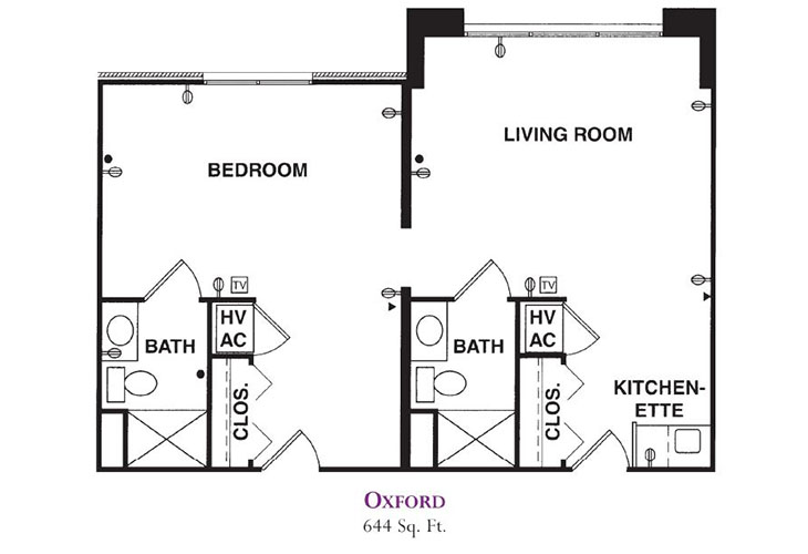 Forum at Knightsbridge Memory Care Oxford Floor Plan