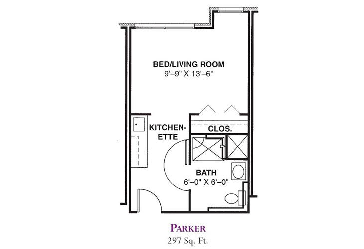 Forum at Knightsbridge Memory Care Parker Floor Plan