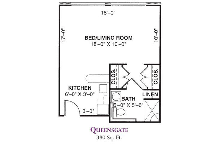 Forum at Knightsbridge Assisted Living Queensgate Floor Plan