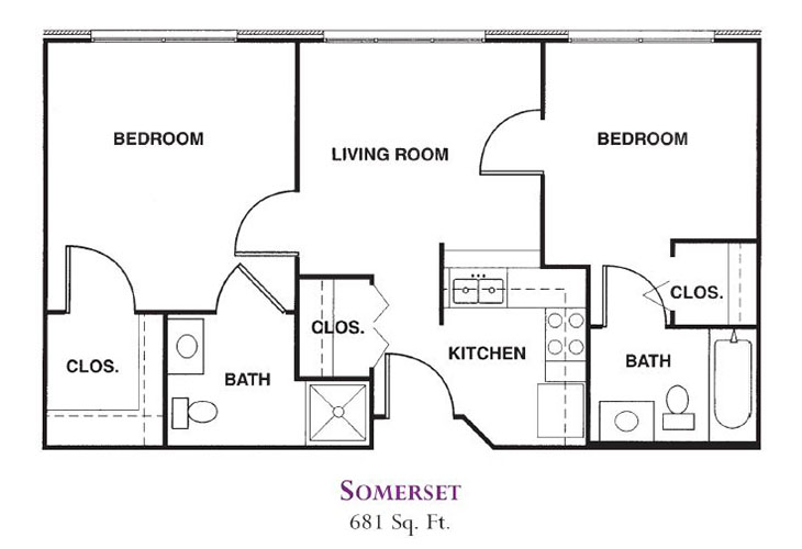 Forum at Knightsbridge Memory Care Somerset Floor Plan