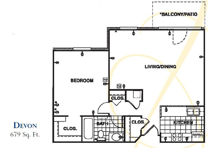 Forum at Knightsbridge Assisted Living Devon Floor Plan