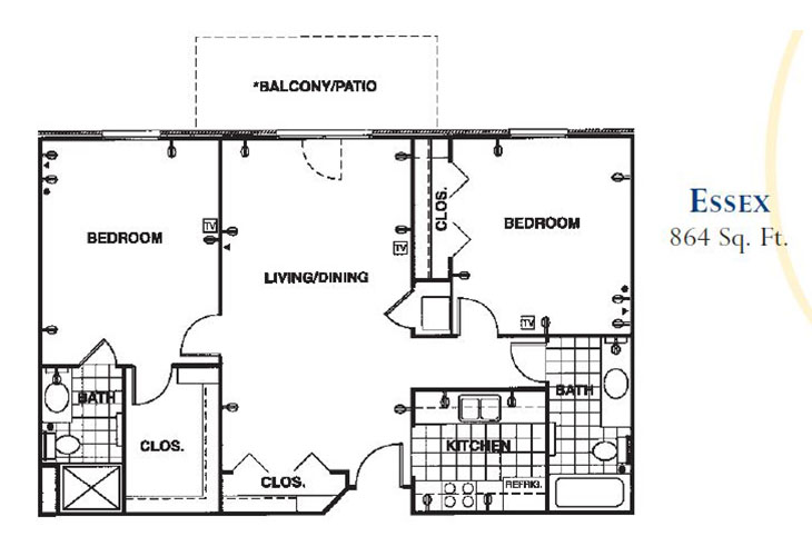Forum at Knightsbridge Memory Care Essex Floor Plan