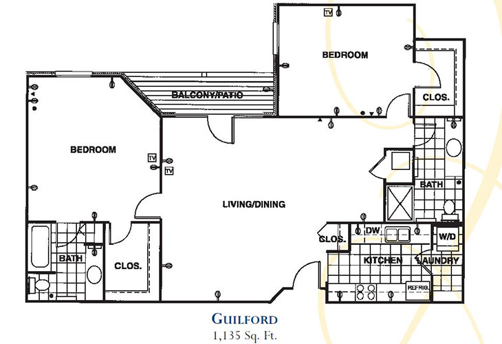 Forum at Knightsbridge Memory Care Guilford Floor Plan