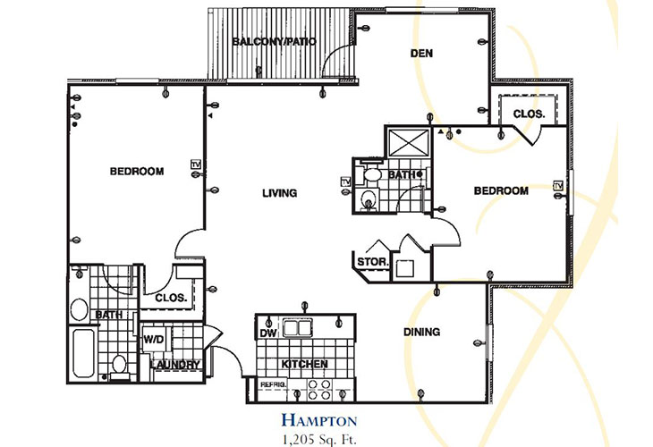 Forum at Knightsbridge Memory Care Hampton Floor Plan