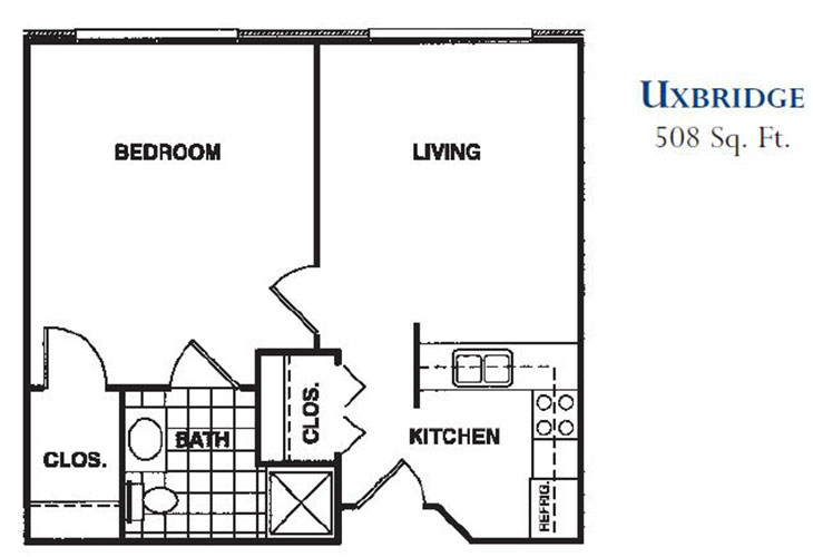 Forum at Knightsbridge Assisted Living Uxbridge Floor Plan