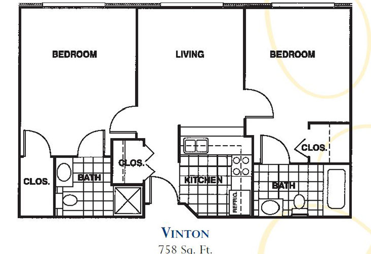Forum at Knightsbridge Independent Living Vinton Floor Plan