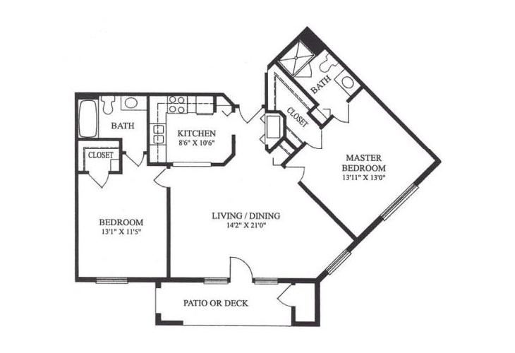 Forum at Lincoln Heights Independent Living Model G - Two Bedroom Floor Plan