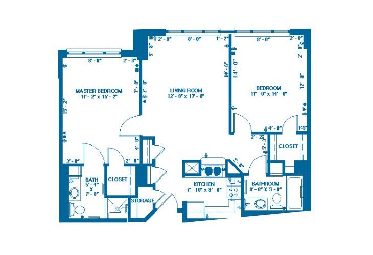 Forum At Memorial Woods Memory Care F-2 Floor Plan
