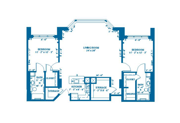 Forum At Memorial Woods Memory Care J Floor Plan
