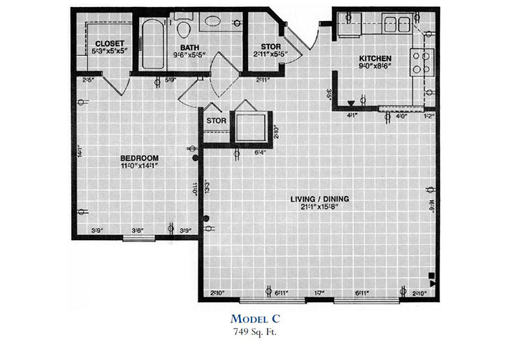 Forum at Overland Park Independent Living Model C Floor Plan