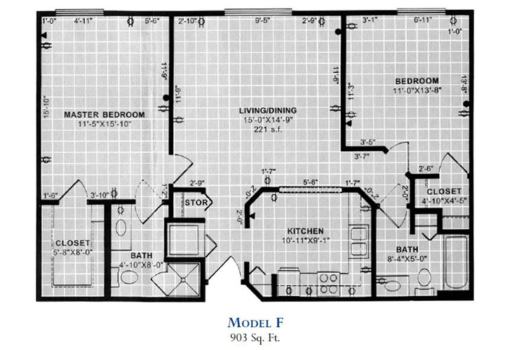 Forum at Overland Park Independent Living Model F Floor Plan