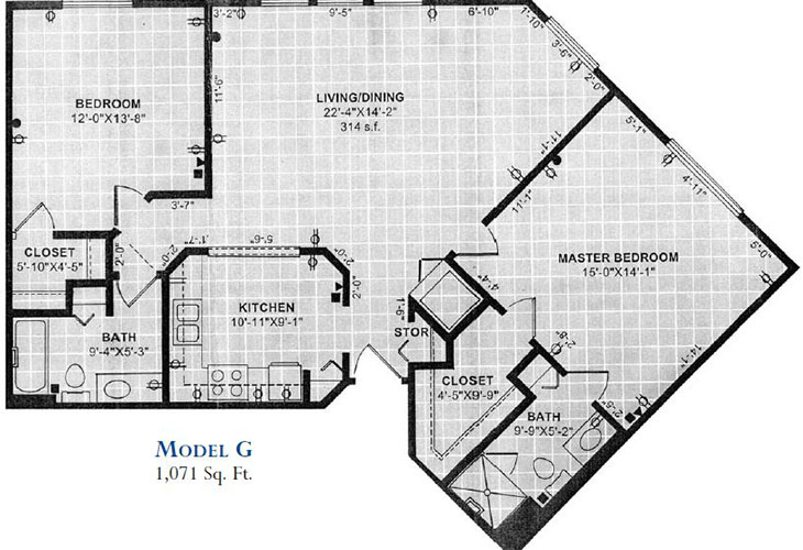 Forum at Overland Park Independent Living Model G Floor Plan