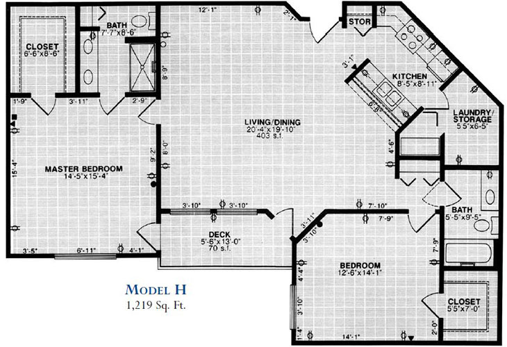 Forum at Overland Park Independent Living Model H Floor Plan