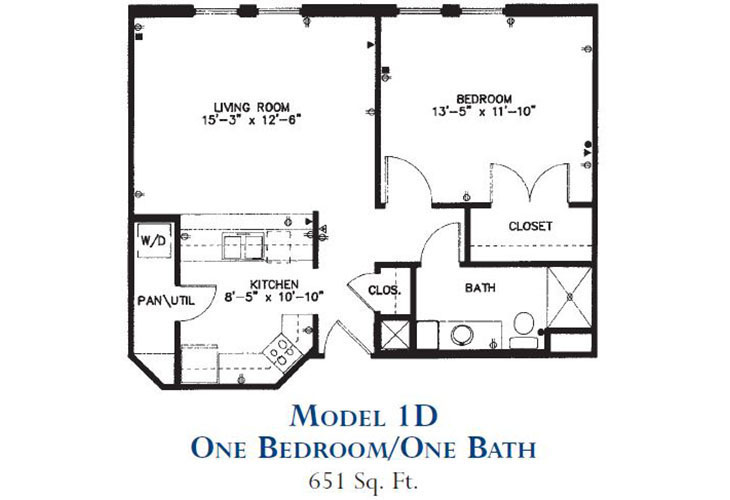 Forum at Park Lane Independent Living Model 1D Floor Plan