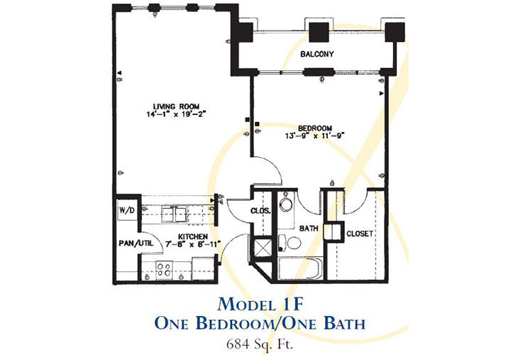 Forum at Park Lane Assisted Living Model 1F Floor Plan