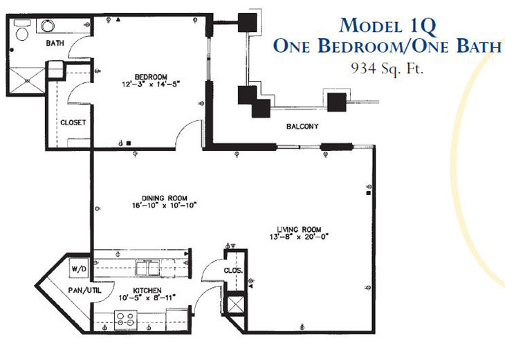 Forum at Park Lane Assisted Living Model 1Q Floor Plan