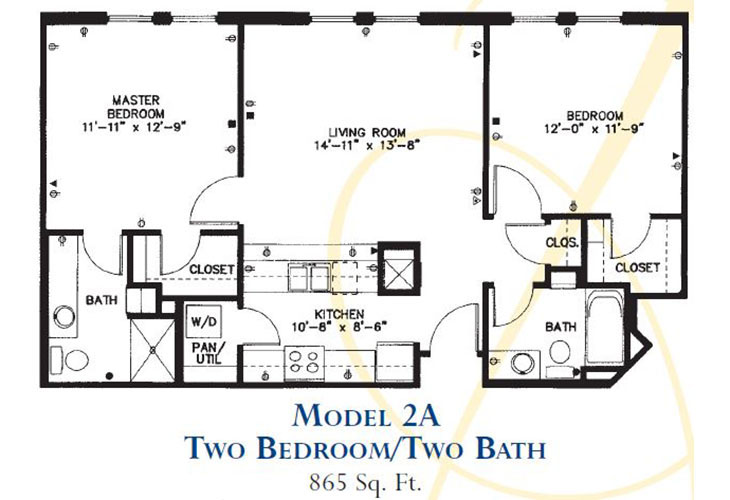 Forum at Park Lane Assisted Living Model 2A Floor Plan