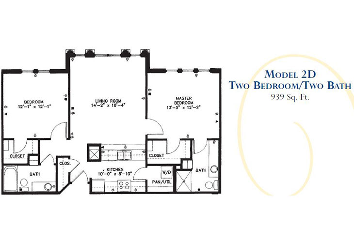 Forum at Park Lane Assisted Living Model 2D Floor Plan