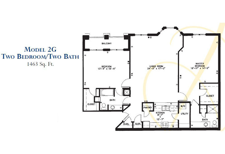 Forum at Park Lane Independent Living Model 2G (2) Floor Plan