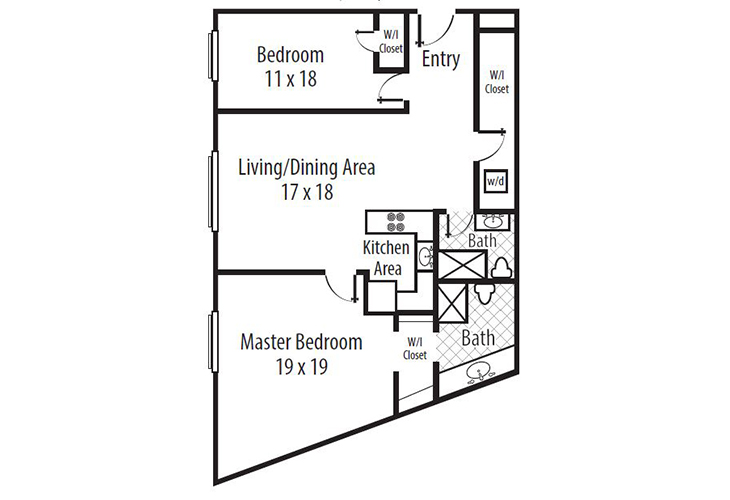 Forum at Town Center Independent Living The Terrace - Two Bedroom (1) Floor Plan