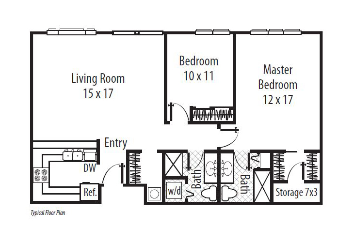 Forum at Town Center Independent Living The Towers - Two Bedroom (2) Floor Plan