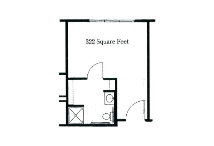 Forum at Tucson Memory Care Alcove Floor Plan