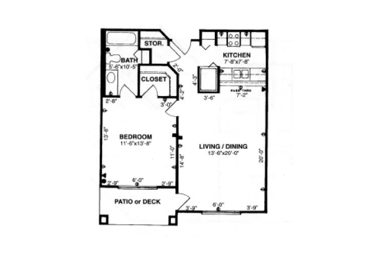 Forum at Tucson Independent Living Model A Floor Plan