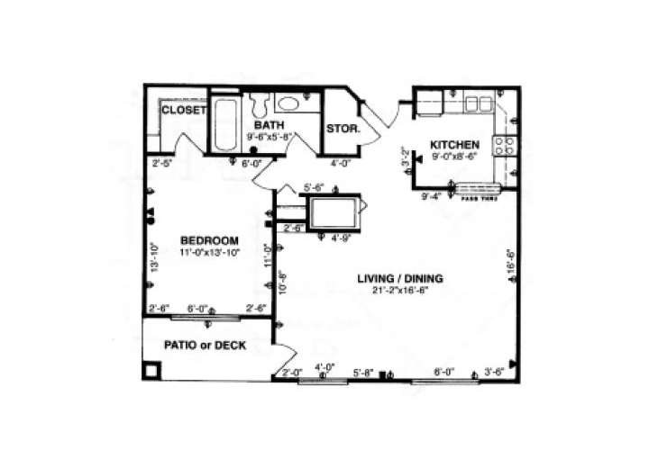 Forum at Tucson Independent Living Model B Floor Plan