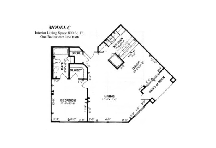 Forum at Tucson Assisted Living Model C Floor Plan